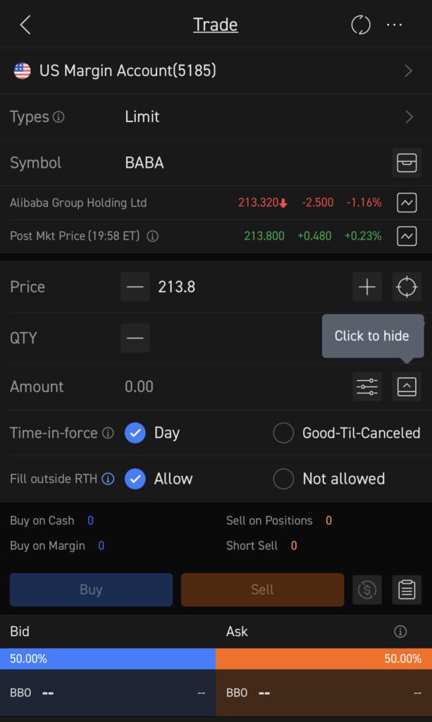 moomoo Buy BABA Stock