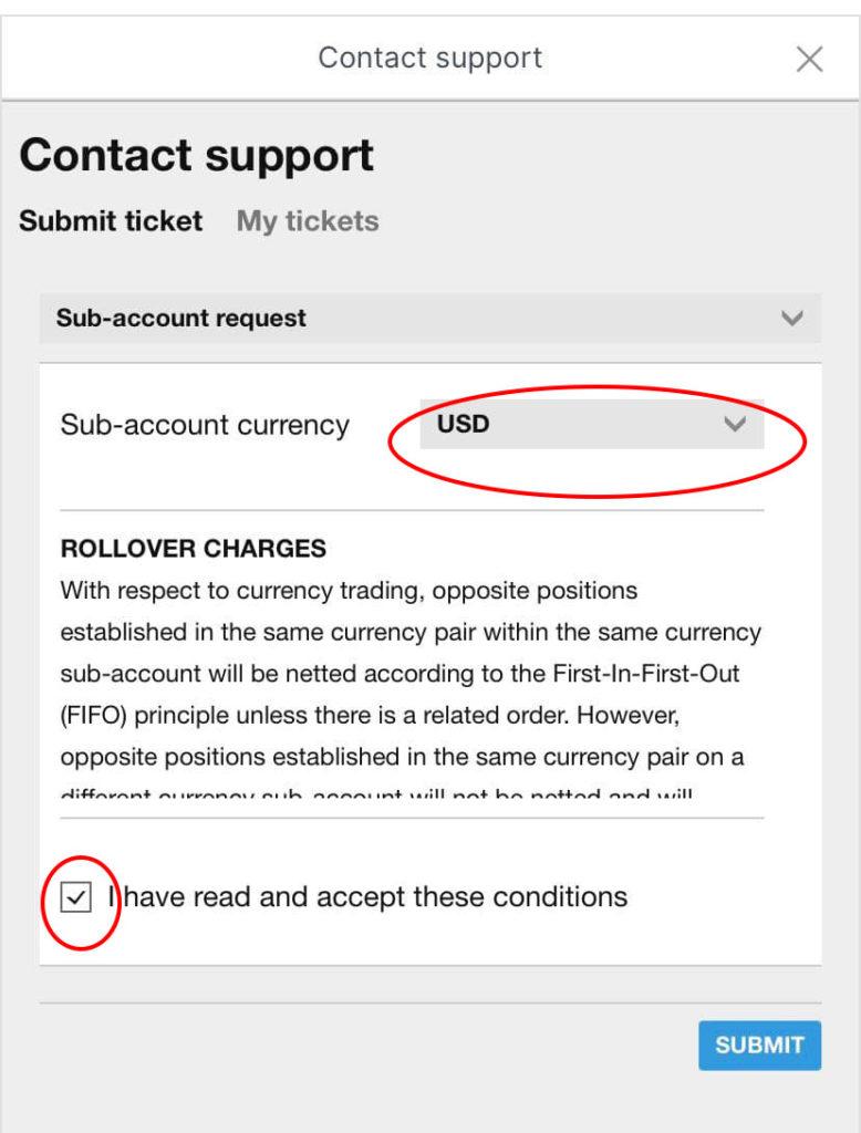saxo investor app sub account submit