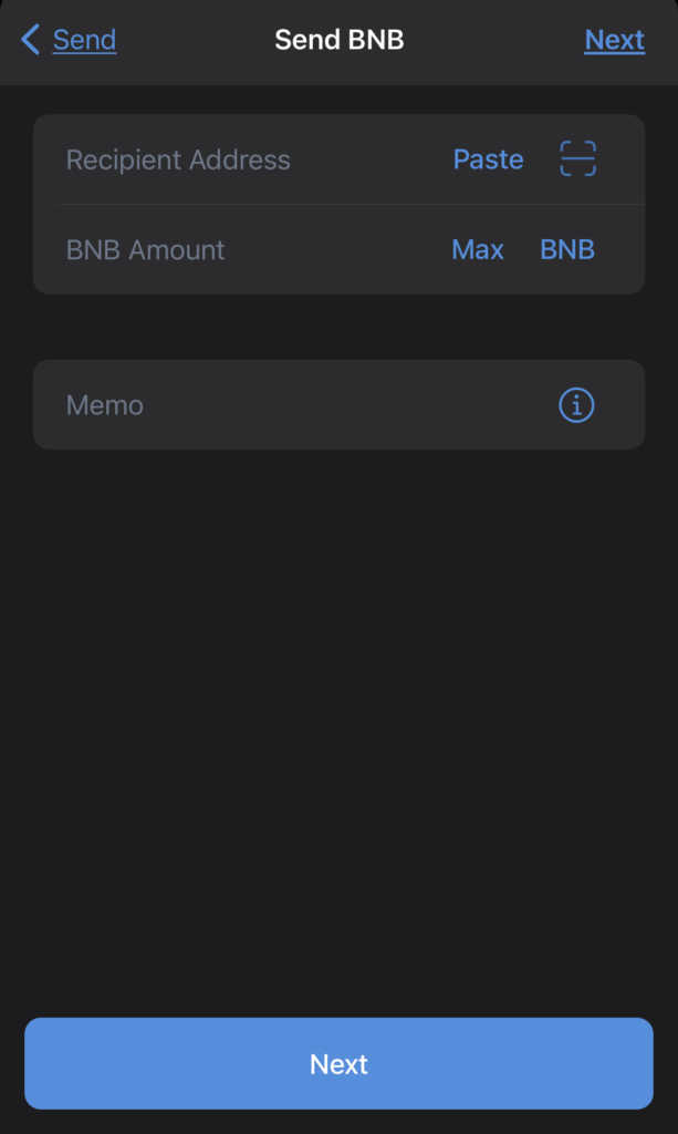 Trust Wallet Select Withdrawal Address